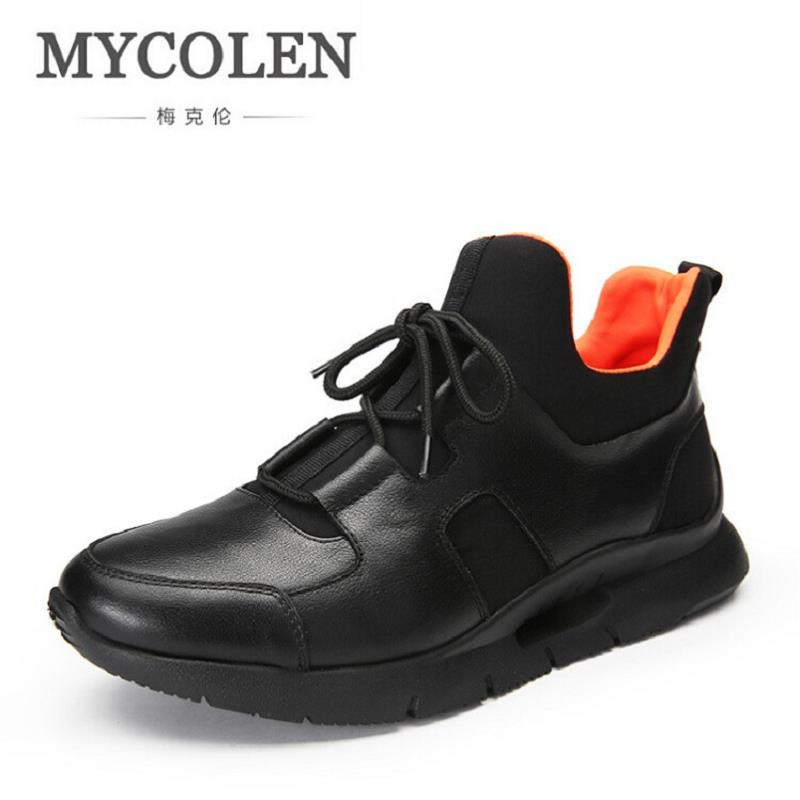 MYCOLEN Hot Fashion Breathable Sneakers Round Toe Male Shoes Adult Comfortable Black Shoes Men Casual Shoes sapatos masculinos peak sport men outdoor bas basketball shoes medium cut breathable comfortable revolve tech sneakers athletic training boots