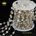 5 М/лот Цепи Моды Четки Натуральный Серый Агат 6 мм Круглый Бисера Цепи Золото Серебро или Латунь Цепь Ожерелье JD052