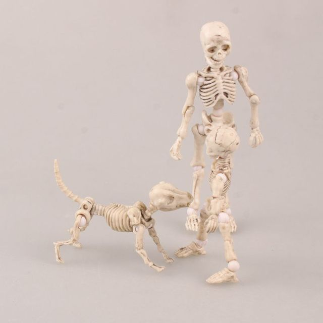 2 Skeletons and their Dog Action Figure Collectible