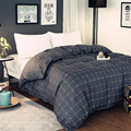 Simple Gray Black Plaid Pattern Polyester Bedding 1 Piece Duvet Cover With Zipper Quilt Or Comforter Or Blanket Case 4 Size