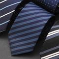 Negocio de los hombres de cabeza de flecha jacquard corbata a rayas de punto de seda gravata corbatas para hombres stropdas ascot corbatas de seda párrafo hombre