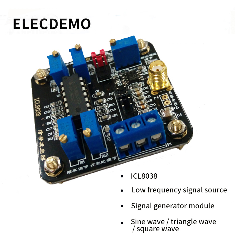 ICL8038 module low frequency signal source signal generator module sine wave triangular wave square wave waveform Function demo-in Demo Board Accessories from Computer & Office