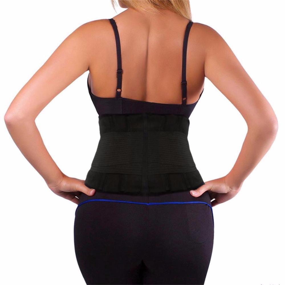2018 Men Women Waist Lumbar Support Waist Trimmer Posture Corrector Belt Exercise Weight Loss Burn Body Shaper Gym Fitness Belt