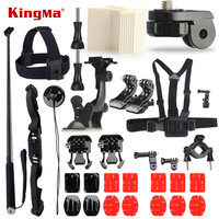 KingMa Gopro Accessories Set Kit 3M Sticker Suction Cup Go Pro Hero 4 3 2 Black