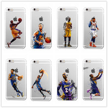Basketball star James Bryant Jordan soft silicon TPU case cover for iphone 6 6plus 7 7plus 5S SE