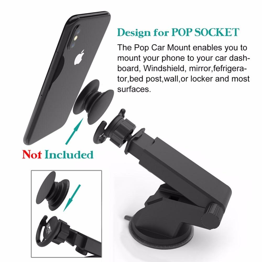 Car Mount for Pop Socket para iPhone con brazo telescópico de - Juegos y accesorios