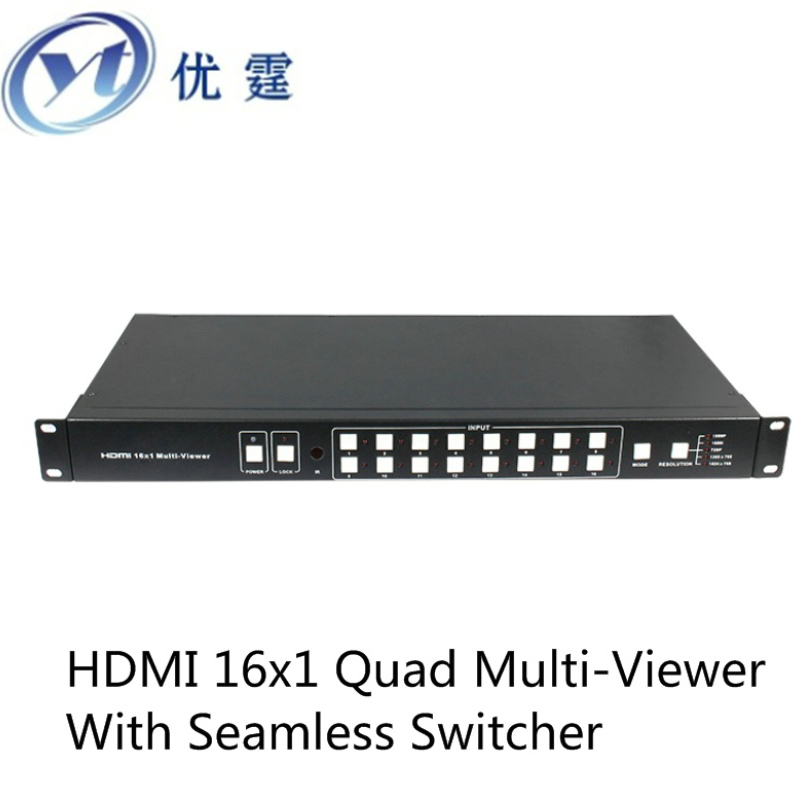 YOUTING YT-HDS8161SL HDMI 16x1 Multi-Viewer With Seamless Switcher 1080p IR control RS232 Screen splitter is not black screen