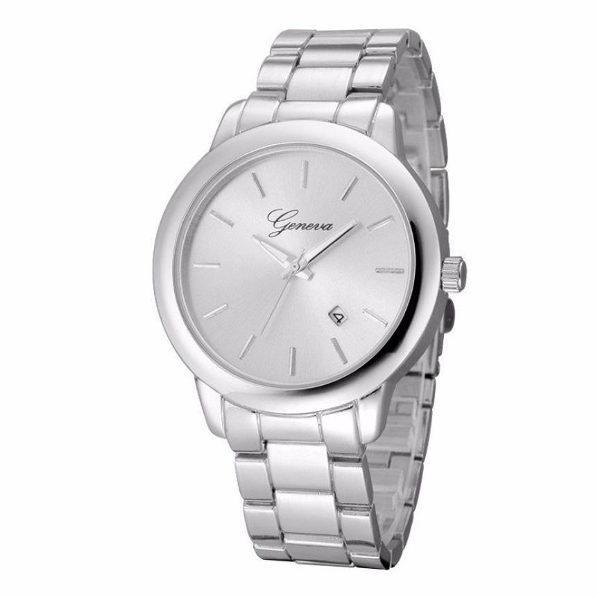 Brand Watches For Women Geneva Luxury Gold Stainless Steel Quartz Watch Women's Fashion Business Wrist Watch Mens Clock #Ni cocoshine a 999 mens stainless steel business quartz wrist watch blu ray wholesale