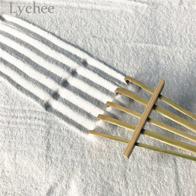 Lychee Mini Zen Garden Rakes Bamboo Rake Miniature Sand Tray Tools Crafts Decoration