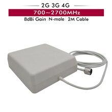 700-2700 MHz Antena Painel Interior 8dBi com Conector Tipo N-do sexo masculino 2 m Cabo para GSM/ CDMA/DCS/PCS/AWS/WCDMA/LTE 2G 3G 4G Reforço