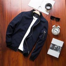 New Spring Bomber Jacket Mens Streetwear Hip Hop Slim Fit Pilot