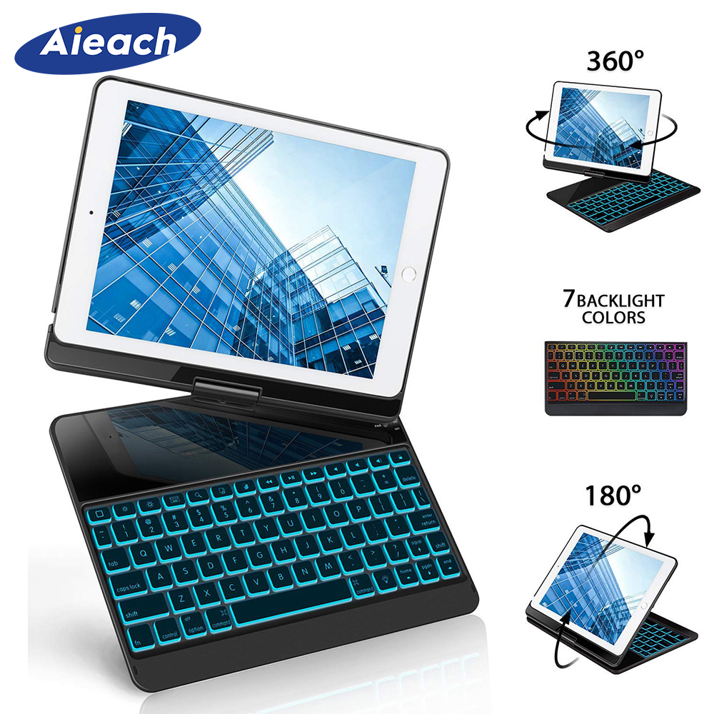 For Apple iPad Pro 10 5 inch Case With 7 Colors Backlit Smart Wireless Bluetooth Keyboard