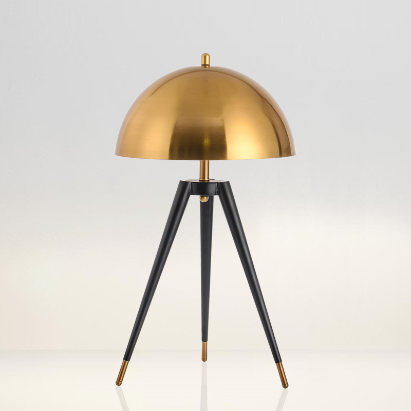 Us 139 8 29 Off Postmodern Three Tripod Gold Table Lamp Italian Designer Lamps Creative Office Led Floor Bedroom Bedside Home Decor Lights In
