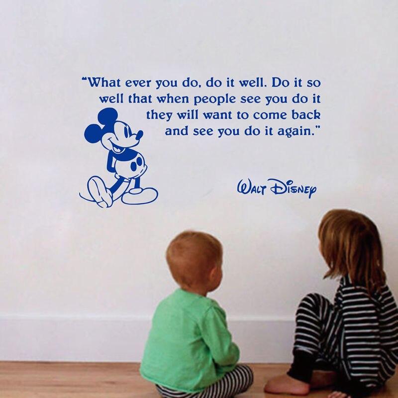 Φ_ΦVenta caliente de la historieta de Mickey Mouse niños Room decor ...