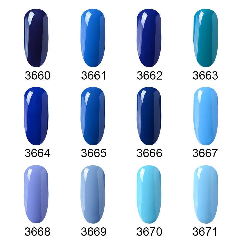 Inagla желтый Гель-лак синий цвет дизайн ногтей полу Перманентный Гель-лак  для ногтей Маникюр УФ лак для сушки под лампой Цвет Гель-лак для ногтей