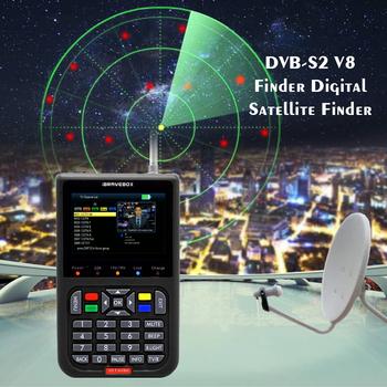 V8 Finder DVB-S2 DVB-S umowy o wolnym handlu cyfrowej telewizji satelitarnej SatFinder miernik HD z dostępem do kanałów satelitarnych narzędzia wyszukiwania TFT LCD Sat Finder lnb miernik sygnału tanie i dobre opinie KKMOON Elektryczne 3 0-4 9 Cali