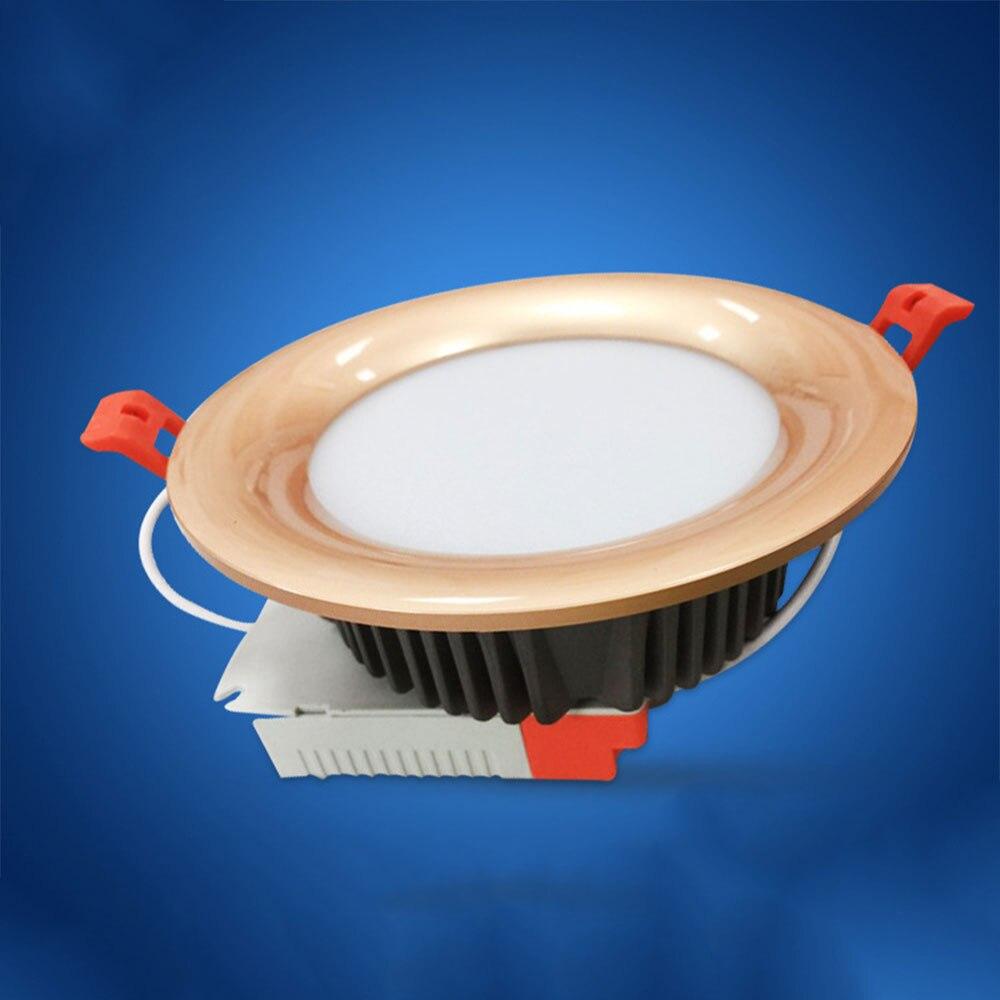 Бесплатная доставка светодиодный вниз потолочный светильник Встраиваемый светильник затемнения Крытый светодиодный 3 Вт/5 Вт lamparas де TECHO дл...