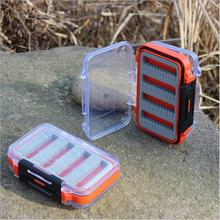 New Arrival Double Side Open Fly Fishing Box Lure Bait Hook Cases ABS Plastic Tackle Boxes Slid Foam Insert Hold Flies Box