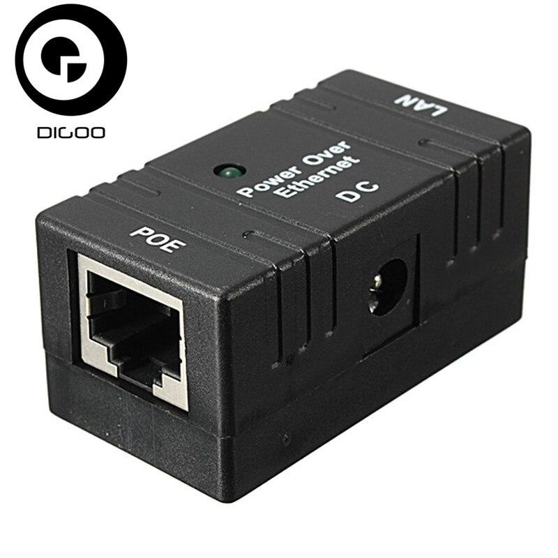 Digoo 10 м/100mbp пассивного PoE Мощность Over Ethernet RJ-45 Инжектор Splitter настенное крепление адаптера для ip-видеонаблюдения Камера сетевое оборудование