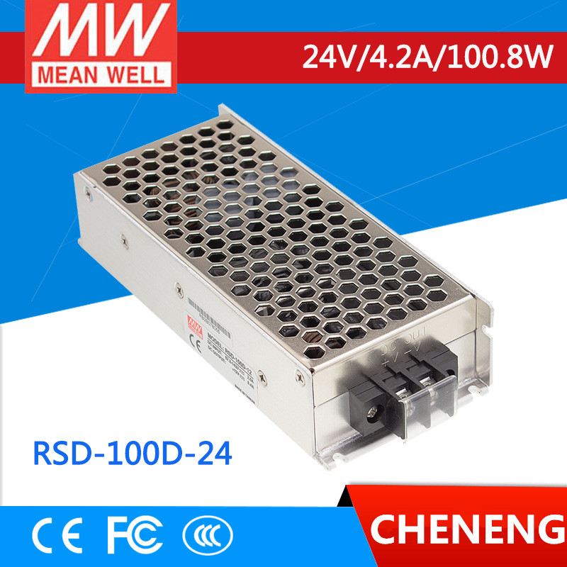 MEAN WELL original RSD-100D-24 24V 4.2A meanwell RSD-100 24V 100.8W Railway Single Output DC-DC Converter
