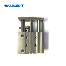NBSANMINSE MGPL Bore25 Compressed Air Cylinder SMC Type ISO Pneumatic Compact Miniature Guide Rod Double Acting