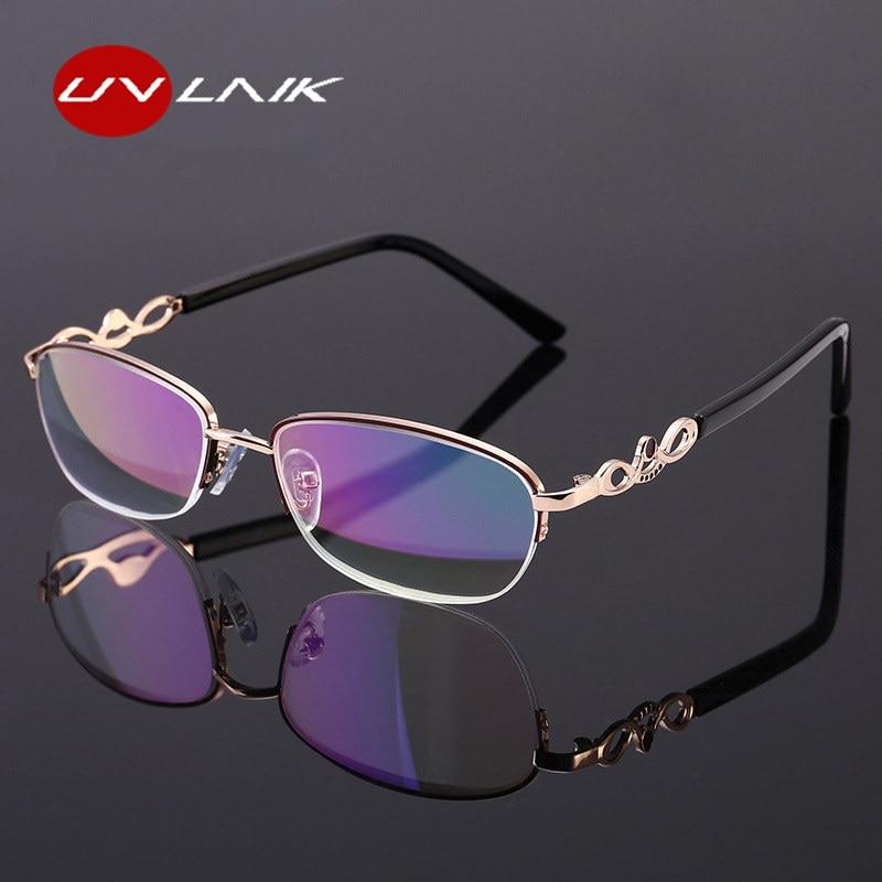 5c987a2e78 UVLAIK mujeres gafas de lectura hombres lentes de resina Marco de aleación  de gafas Vintage gafas hipermetropía anteojos recetados + 1,0 + 4,0
