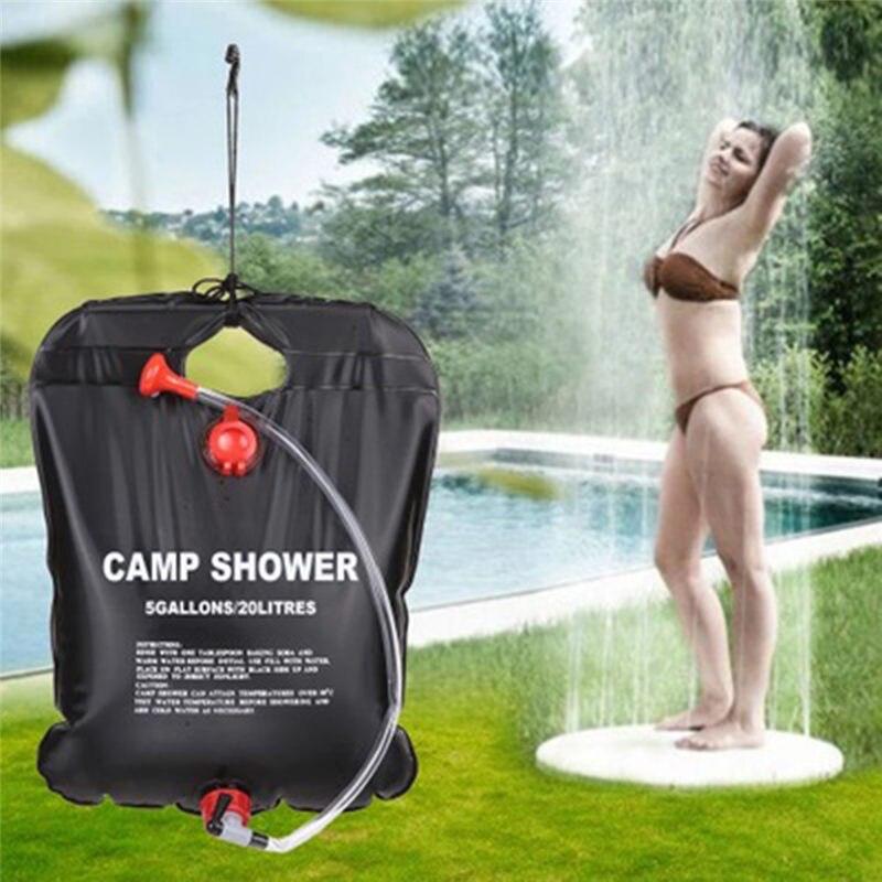 20L 5 Gallon Outdoor Shower Water Bag Portable Shower Bag Camping Hiking Solar Heated Shower Bathing Bag Wonderful Travel Kits