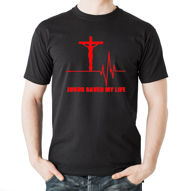 765153b9fbef6 Tops Summer Cool Funny T-Shirt 2017 Fashion Jesus Saved My Life Design  Tshirt God Religion Prayer Faith Christian T Shirt Men