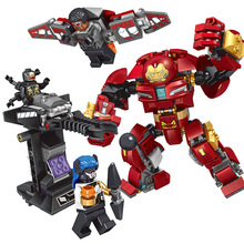 8901 Technic Movie Series Super Genuine Hero Hulk Hulkbuster Ultron Building Blocks Bricks Festival Children Gift