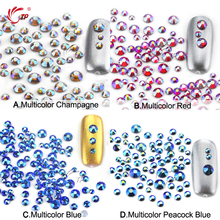 TP 400psc/bag 3bags Super Shiny SS6-SS20 Mixed Size 3D Rhinestones Blue Silver Color Crystal  Flatback Nail Art Decorations