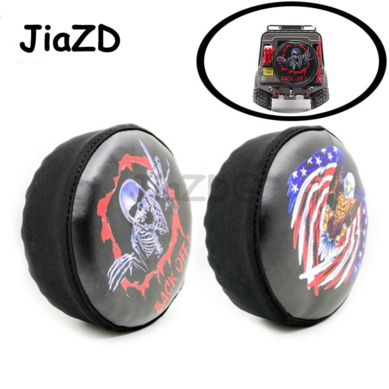 RC Car Tire Cover PU Leather Spare Tire for RC Car 1/10 HSP Redcat Traxxas Axial SCX10 RC4WD D90 CC01 RC Truck