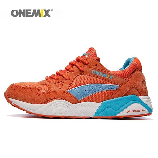 Onemix 2019 сезон весна-лето; Кеды женские ретро кроссовки портативный спортивная обувь плоской подошве бег Eur35-40