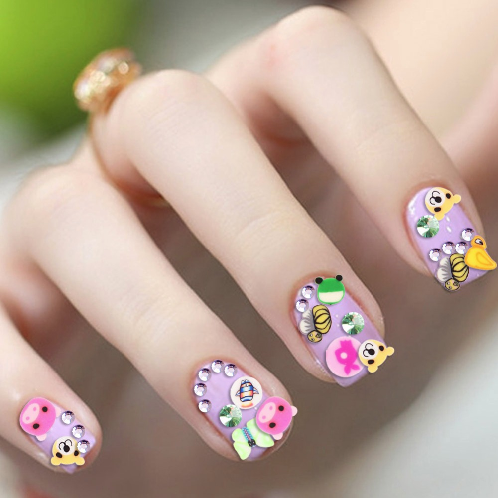 Aliexpress 50 Pcs Set 3d Nail Art Fimo Canes Stick Rods Polymer Clay Stickers Decor Smail Face Nails Decorations New Arrive Manicure Beauty From