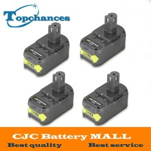 4PCS High Quality 18V 4000mAh For Ryobi Hot P108 RB18L40 High Capacity Rechargeable Battery Pack Power