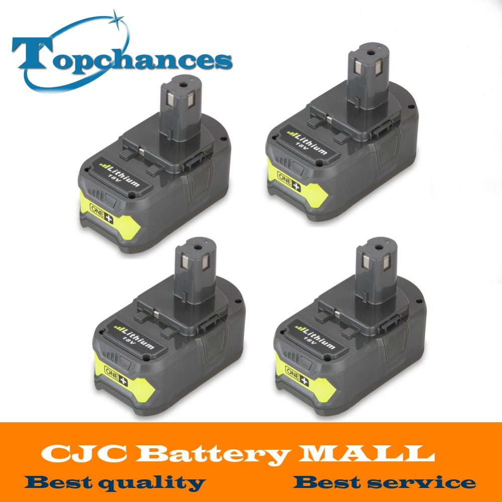 4PCS High Quality 18V 4000mAh For Ryobi Hot P108 RB18L40 High Capacity Rechargeable Battery Pack font