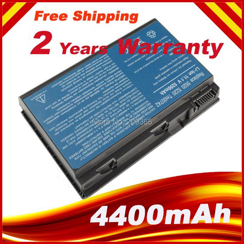 4400mah Laptop <font><b>Battery</b></font> For <font><b>ACER</b></font> Extensa <font><b>5210</b></font> 5220 5230 5420 5610 5620 5630 7220 7620 for TravelMate 5320 5520 5530 5710 GRAPE32 image