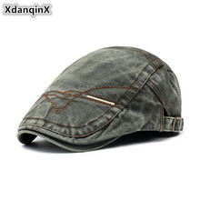 XdanqinX регулируемый размер мужской джинсовый берет шапки Ретро Кепка Для Взрослых мужчин Snapback Мужской козырек Кепка Chapeau d'homme