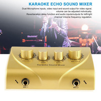 Karaoke Sound Mixer Professional Audio System Portable Digital Audio Sound Karaoke Machine Mixer System Karaoke Player gold