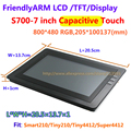 Free shipping , FriendlyARM S702/S700 , 7inch Touch Screen Capacitive Touch Display , For TINY6410 MINI6410 TINY210 MINI210S