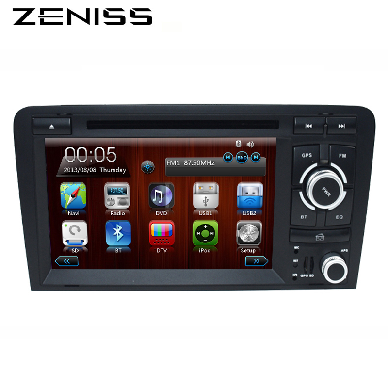 """imágenes para FreeShipping 2Din de 7 """"coche DVD GPS para Audi A3 RS3 2003 2004-2011 2008 A3 RS3 A3 DVD de Navegación de Radio Del Coche 2 DIN DVD navegación"""