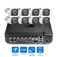 FUERS AHD CCTV HD 4MP 1520P 8 Channel 6in1 DVR H.265 Surveillance System Outdoor Camera Security System Video CCTV P2P HDMI Kit
