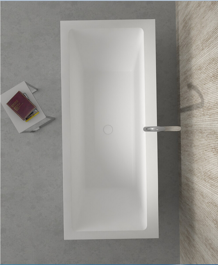 1800x800x580mm Corain CUPC Approval Bathtub Oval Freestanding Solid surface stone Tub RS65118
