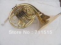 Двухрядный 4 ключа разрез Валторны FB ключ Валторны Позолоченные с нейлоновый чехол духовой инструмент с мундштуком