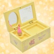 Bevigac Plastic Dancing Ballerina Music Box Mechanical Musical Jewelry Kids Girls Christmas Birthday Gift Present Home Decor
