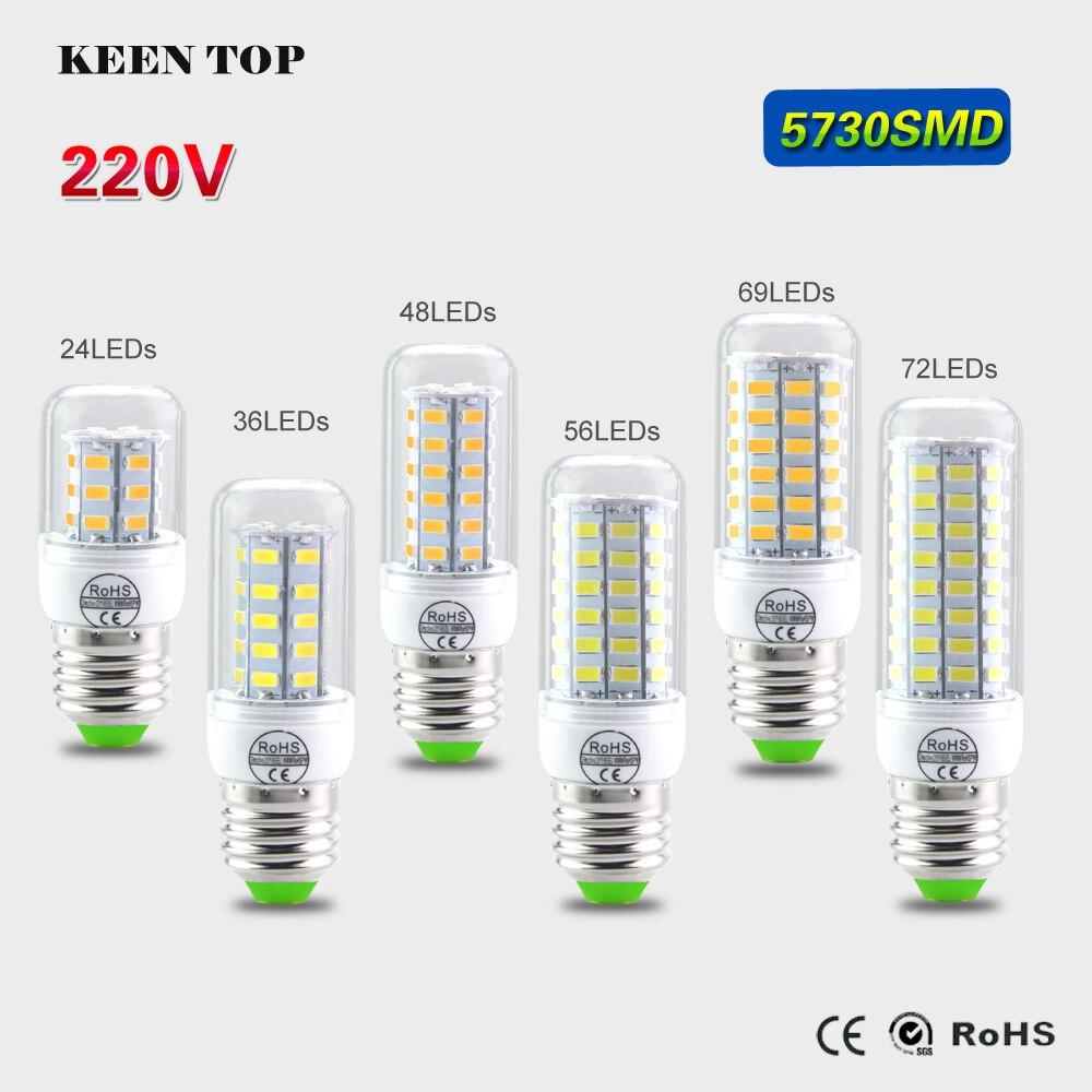 E14 E27 Led Lamp SMD 5730 (5630) Led Corn Bulb 220V 240V Lampada Spotlight 3W 5W 7W 12W 15W 18W 20W Lanterna Candle Chandeliers beilai 5736 smd lampada led lamp e27 220v corn light e14 led bulbs 3w 5w 7w 9w 12w 15w candle spotlight luz chandelier