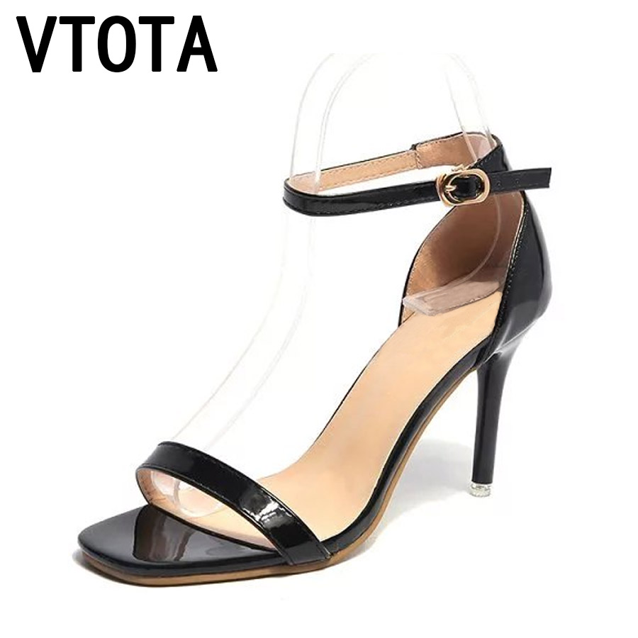 VTOTA Women Sandals Wedding Shoes Open Toes Sandalias Mujer Sexy Black Buckle Thin High Heels Sandals Women Summer Shoes F99 vtota 2018 women sandals summer open toe