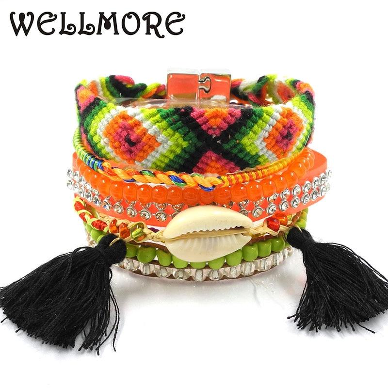 Brazilian bead weaving rope multilayer bracelet magnet buckle Friendship bracelet Bohemian bracelets boho bangle B1509