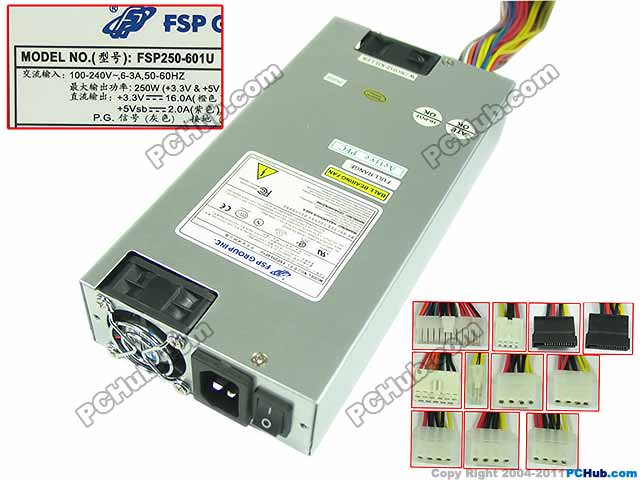 цена на Emacro FSP Group Inc FSP250-601U Server Power Supply 250W 1U PSU For Sever Computer