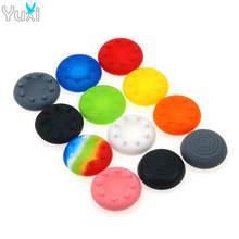 YuXi 2pcs Silicone Analog Stick Grips Cover for PlayStation 4 3 PS4 PS3 Controller stick Caps Xbox 360 One