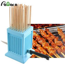 49 Holes BBQ Grill Shish font b Kebab b font Maker Box Barbecue Grill Roasted